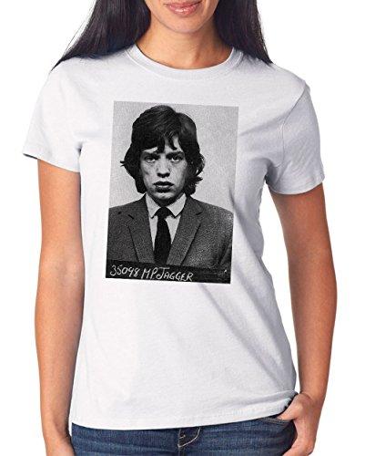 Jagger Mugshot T-Shirt Girls Bianco-M