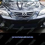 APS 2004-2006 Mazda Mazda 3 Sport Hatchback Bumper Black Billet Grille Grill Insert #S18-H73266M