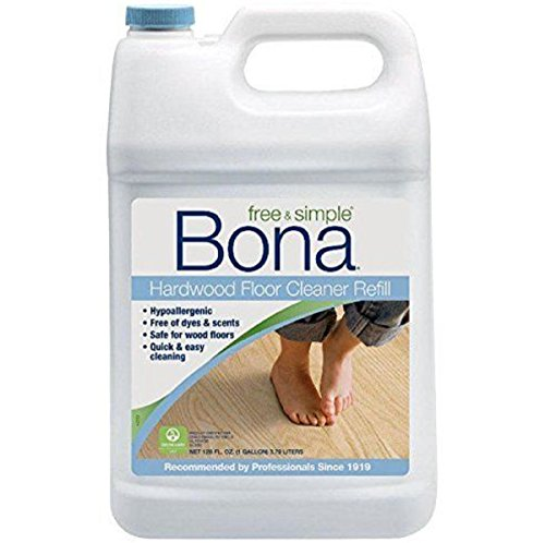 Bona Hypoallergenic Free of dyes & scents ,Safe,Free And Simple Hardwood Floor Cleaner Refill, 128-ounce (Bona Floor Cleaner Free compare prices)