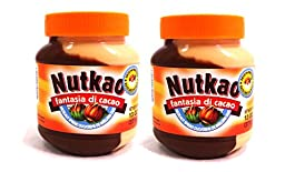 Nutkao Fantasia Di Cacao From Italy Half Hazelnut and Half Milk Duo Spread - 2- 13 Ounce Jars