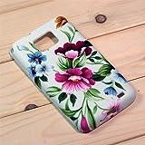 【全10色】Samsung Galaxy S2 / SC-02C / i9100 専用ケース プラスチックケース 花柄 Plastic Case for Galaxy S2 SC-02C (1380-9)