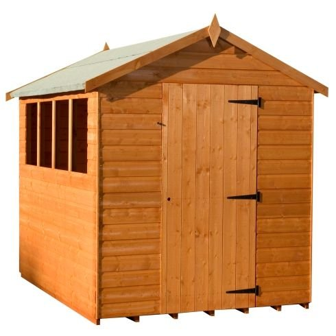 Woodlands Super Apex Shed With Loglap Cladding : Size - 12 X 8