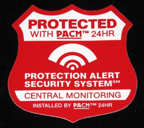 7 Home Burglar Alarm Security System Static Cling Stickers front-1046677