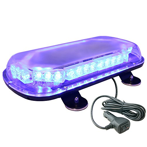 Lamphus Solarblast 34W Led Volunteer Firefighter Personal Vehicle Warning Mini Light Bars ( Other Color Available ) - Blue