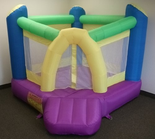 "New Improved - My Bouncer Little Castle Ball Pit Bounce Bopper 78"" L X 78"" W X 72"" H W/ Ball Hoop & Landing - Phthalate Free Puncture Resist Nylon Material (Multiple Models & Sizes Available, Sold Thru Separate Amazon Listing)"