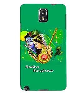 Fuson Premium Radha Krishna Printed Hard Plastic Back Case Cover for Samsung Galaxy Note 3 N9000