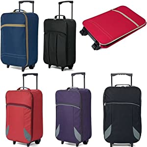 Folding Travel Bag Hand Luggage on Wheels 55x35x20cm Wheeled Cabin Case Flight Bag