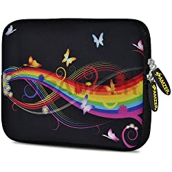 Amzer 10.5 Inch Neoprene Sleeve Prism Butterfly for Apple iPad Air, Apple iPad 4, Apple iPad 2