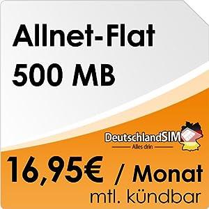 DeutschlandSIM Flat S [SIM und Micro-SIM] monatlich kündbar (500MB Daten-Flat, Telefonie-Flat, 9ct pro SMS, 16,95 Euro/Monat) O2-Netz ***Nur noch bis zum 20.04.2014 verfügbar***