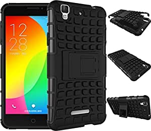 Novo Style Dual Layer Kick Stand Hard Back Case For Micromax Yu Yureka