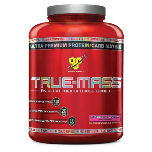 BSN True-Mass Ultra-Premium Lean Mass Gainer, Strawberry Milkshake, 5.75 Pound