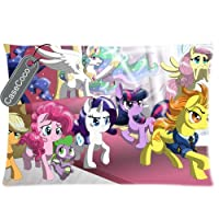 Custom (TM) CASECOCO My Little Pony Twin Sides Queen 20 x 30 Size Pre-shrunk Fabric Cotton Polyester Pillow Case Cover by Coody
