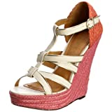 Ravel Jenny White/Pink Wedges RLP751 6 UK