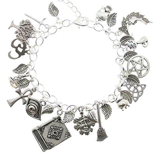Silver Wiccan Charm Bracelet AVBeads