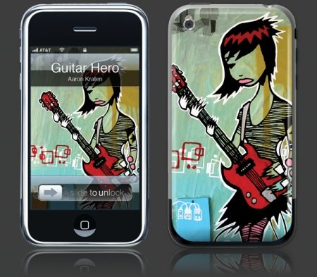 Apple iPhone Premium Vinyl Skin - Guitar Hero(GelaSkins Brand) Made in Canada