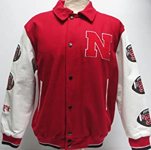 Nebraska Cornhuskers 5-time National Champions Commemorative Wool and Leather Varsity... by Unknown