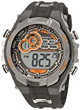 Armitron Mens 408188GMG Chronograph Gray and Black Digital Sport Watch