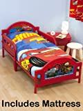 Disney Cars 2 'Espionage' Junior Toddler Bed + Fully Sprung Mattress