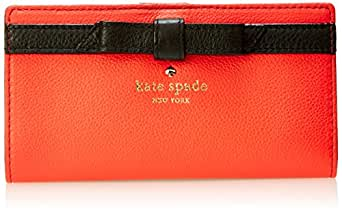 kate spade new york Cobble Hill Bow Stacy Bifold, Geranium, One Size
