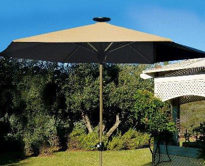 Solar Lighted Patio Umbrella (beige) - Buy Solar Lighted Patio Umbrella (beige) - Purchase Solar Lighted Patio Umbrella (beige) (In the Garden and More, Home & Garden,Categories,Patio Lawn & Garden,Patio Furniture,Umbrellas & Accessories,Umbrellas)