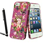 Apple iPhone 5 5S Stylish Flower Flor...