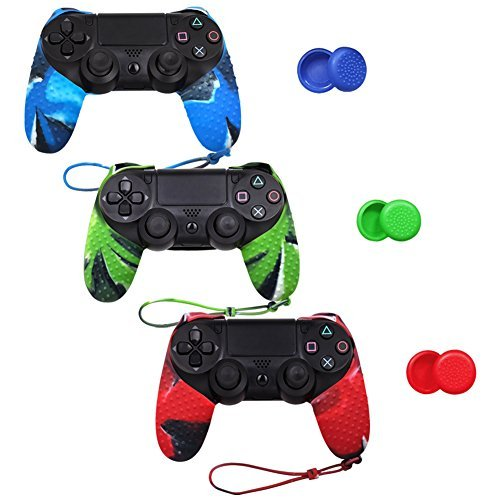 SlickblueTM-Protective-Silicone-Case-for-Sony-Playstation-4-PS4-Controller-Various-Color
