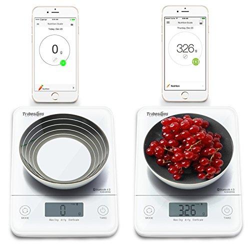 Tribesigns h441 wireless bluetooth smart digital kitchen for Bluetooth kitchen scale