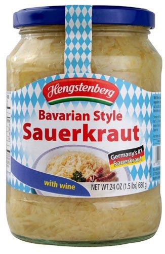 Bavarian Wine Sauerkraut 24 oz Jar (2 Pack) (Kielbasa And Sauerkraut compare prices)