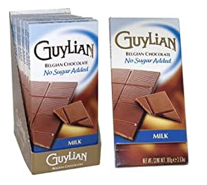 GuyLian Sugarfree Bar - Milk (Pack of 12)