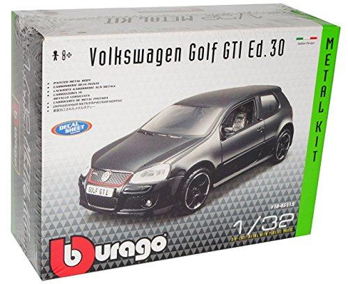 VW-Volkswagen-Golf-V-5-GTI-3-Trer-Schwarz-2003-2008-Bausatz-Kit-132-Bburago-Modell-Auto-mit-individiuellem-Wunschkennzeichen