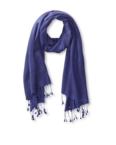 Saachi Women's Cashmere/Silk Blend Scarf, Navy