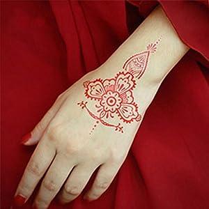 6pcs India Henna Tattoo Kit Kicpot Temporary Tattoo Paste Cone Body