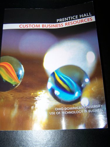 Prentice Hall Custom Business Resources