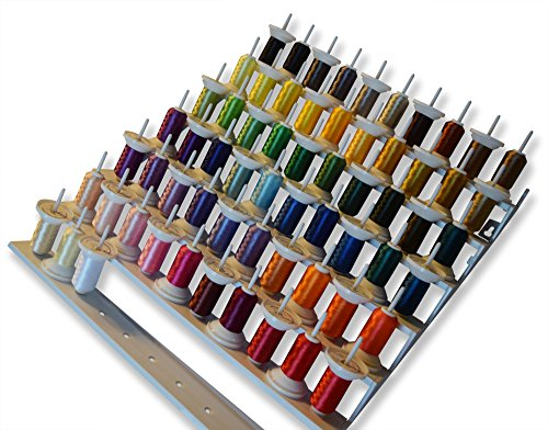 SEW PRO 63 Brother Colors Polyester Embroidery Machine Thread Set | 40 weight 500 meters (550 yards) | Double Snap Spools (Disney Brother Sewing Machine compare prices)