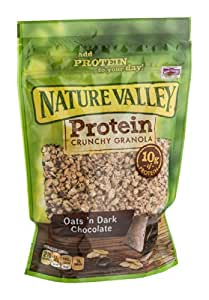Nature Valley Crunchy Granola Oats 'n Dark Chocolate, 11 OZ (Pack of 8)