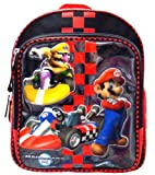 Mario Kart Wii Small Backpack - Toddler Size Wario & Mario Backpack