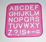 Tupperware Stencil Art Replacement Upper Case Alphabet Letters #1937