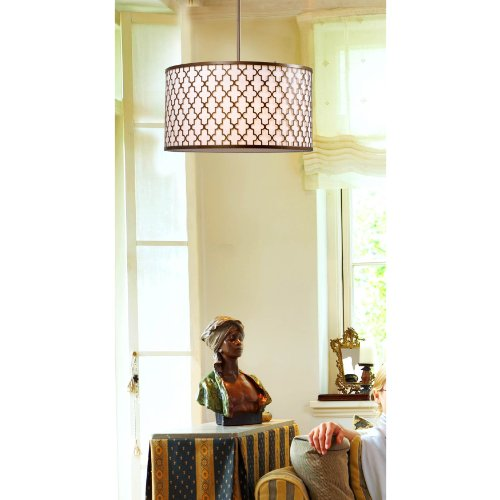 Kenroy Home 93373AG Tripoli 3-Light Pendant with Antique Gold Finish