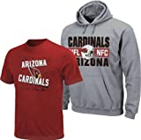 Arizona Cardinals NFL Youth Tee Shirt and Hooded Sweatshirt Combo (Large (14-16)) at Amazon.com