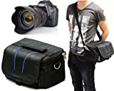 Navitech Large Camera Bag Case/ Cover Fits Camera & Additional Lense For The Canon EOS 1100D/Canon EOS Rebel T3, Canon EOS 600D/Canon EOS Rebel T3i, Canon EOS 650D, Canon EOS 60D, Canon EOS 60Da, Canon EOS 6D, Canon EOS 7D, Canon EOS 5D Mark II, Canon EO