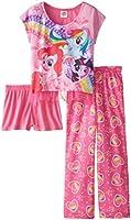 My Little Pony Big Girls' Rainbow Hearts 3-Piece Pajama Set