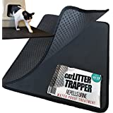 Cat Litter Trapper. EZ Clean. Soft & light. XL Size 30x23 inches. Urine pad Feature with EXCLUSIVE water proof layer. (Patent Pending)