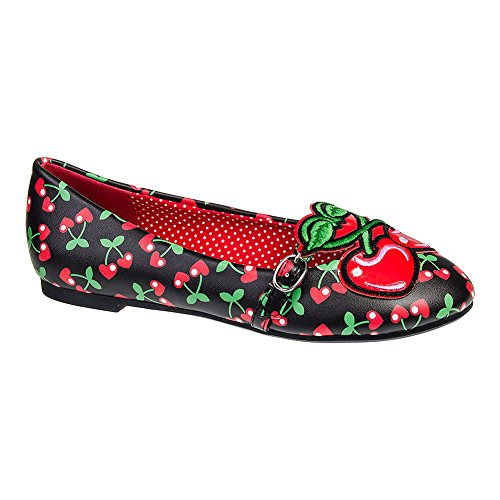 Scarpe Basse Flat Shoes Lovey Banned (Nero/Rosso) - 37
