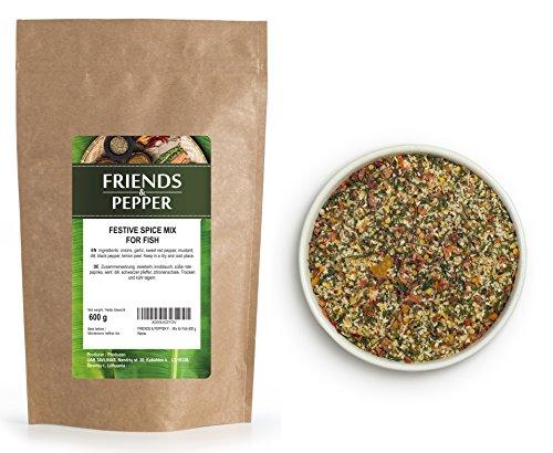 FRIENDS & PEPPER Mix di Spezie di Festa per il Pesce 600 g