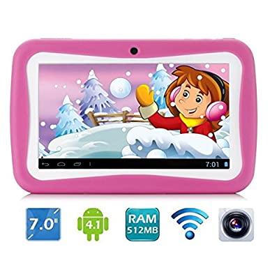 Cheap ifancy Kids Tablet PC with Kids Mode & EDU Games 7 inch Capacitive  Screen Android 4.2 4GB Wifi Children Tablet Pink Shopping Online