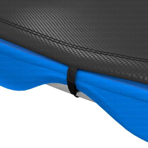 Ampel 24 Trampolin Abdeckplane | Wetterschutzplane für Gartentrampolin 305 cm | UV-beständig | schwarz -