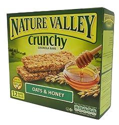 Nature Valley Crunchy Granola Bars, Oats n Honey, 252g