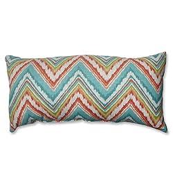 Pillow Perfect Bolster Throw Pillow, Chevron Cherade