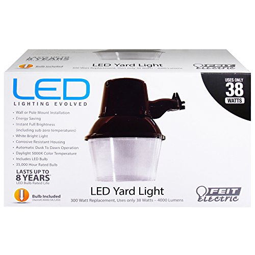 Feit 73995 300W Replacement 5000K Non-Dimmable LED Yard Light (Yard Lights Outdoor compare prices)