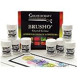 Brusho Crystal Colours Set Of 8
